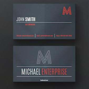 어두운 색상으로 현대 비즈니스 카드