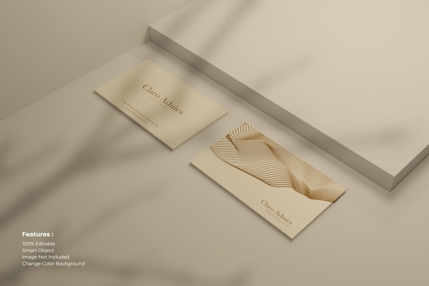 Modern business card with shadow