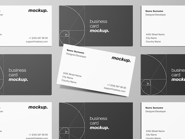 Modern business cards mockup template