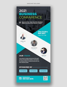 Modern business conference rollup standee & trade show banner template