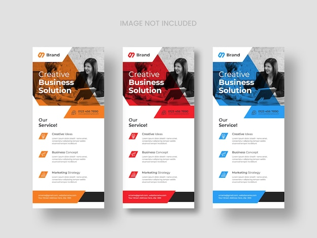 Modern business dl flyer templates