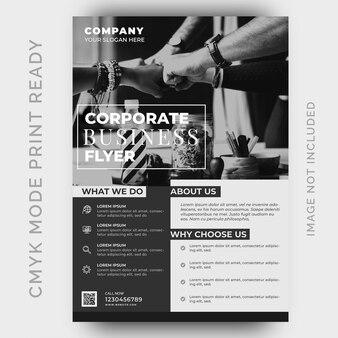 Modern business flyer design template
