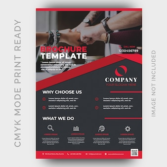 Modern business flyer design template