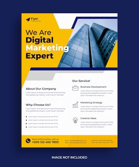 Modern business flyer and web banner template