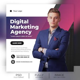 Современный бизнес шаблон поста instagram