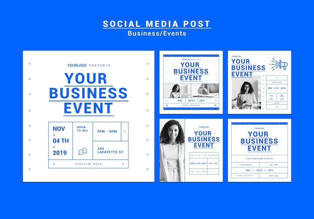 Pack di storie di instagram business moderno