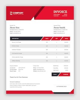現代のビジネス請求書テンプレートデザイン