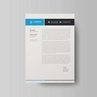 Modern business letterhead templat