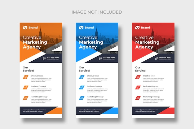 Modern business rack card or dl flyer templates