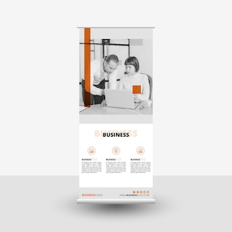Modern business roll up template with image
