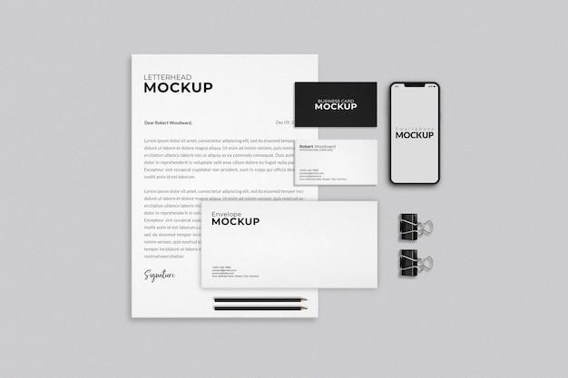 Modern business stationery mockup design