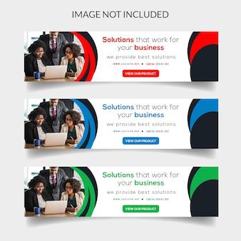Modern business web banner