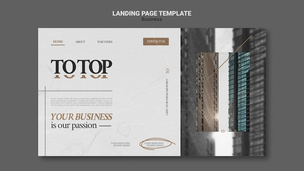 Modern business web template
