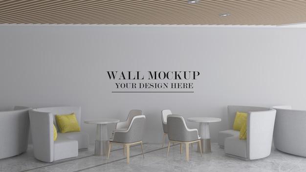 Modern cafe wall mockup design