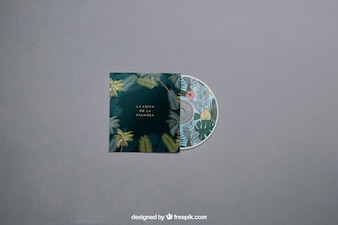 Modern cd mockup