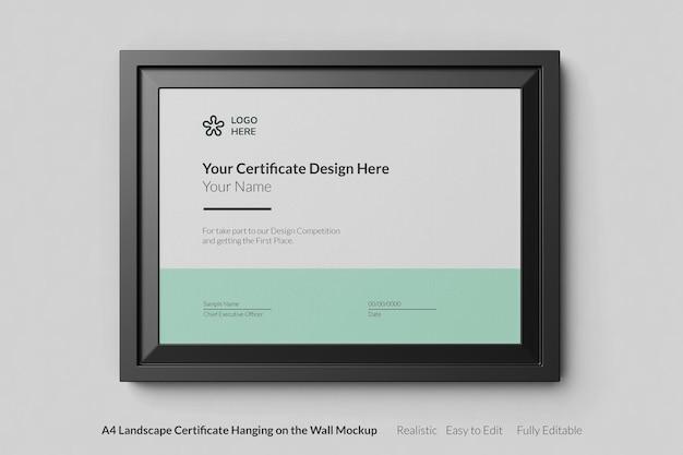 Современный сертификат реалистичный дизайн макета