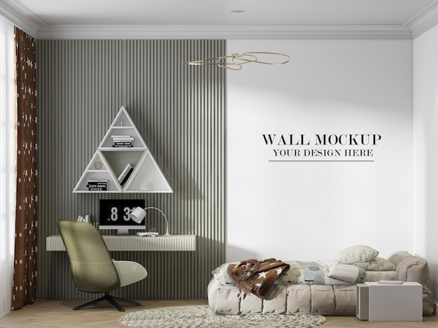 Modern and chic teen room wall background for your textures