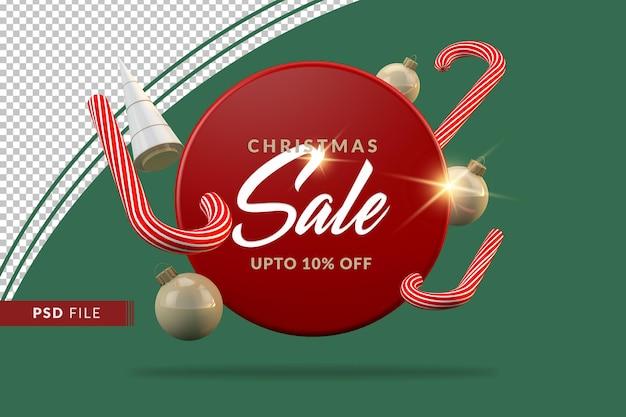 Современная рождественская распродажа 3d объектов шаблон