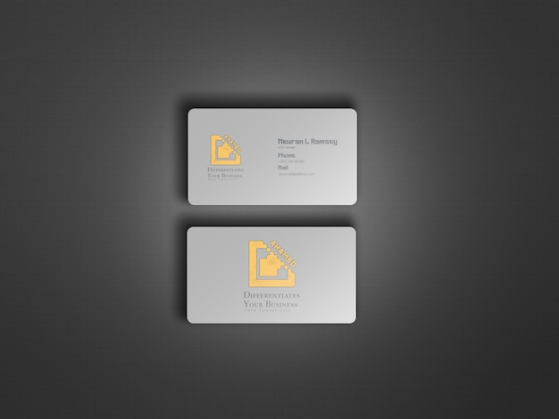 Modern and clean business card mockup