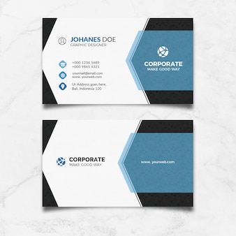 Modern clean business card