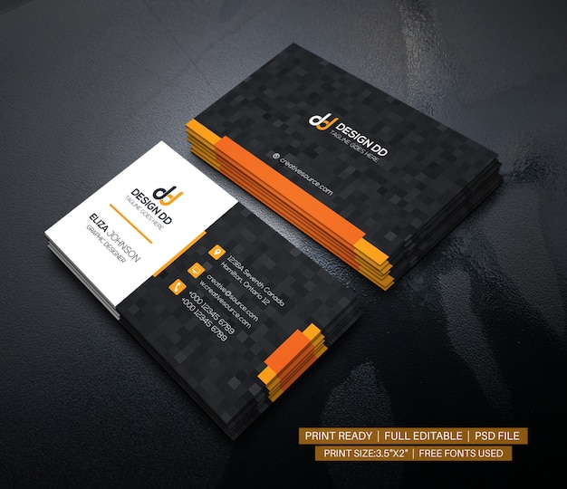 Modern clean corporate business card