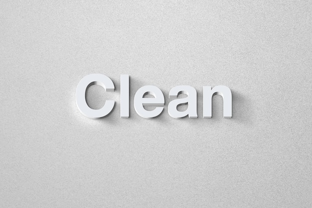 Modern and clean text effect with an elegant style template
