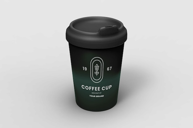 Modern coffee cup mockup design isolated