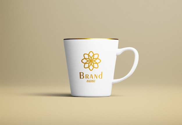 Современная кофейная кружка макет
