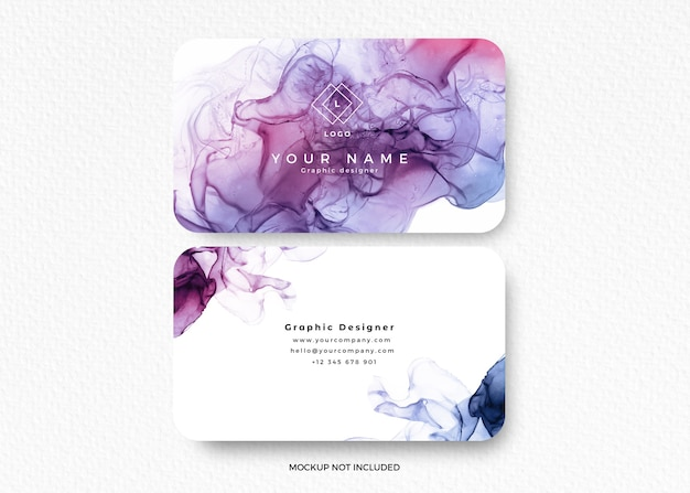 Modern colorful alcohol ink design card