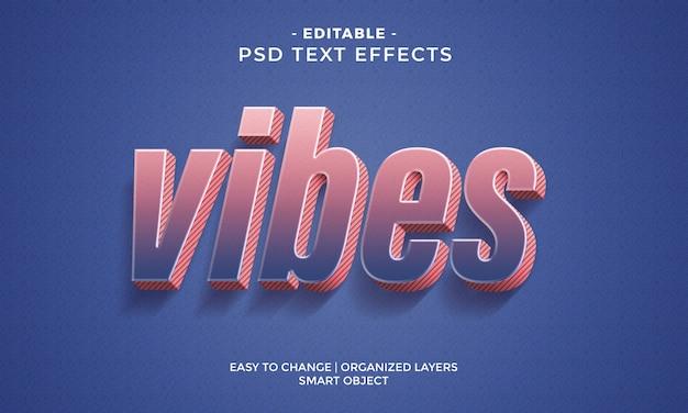 Современный красочный текстовый эффект cool vibes
