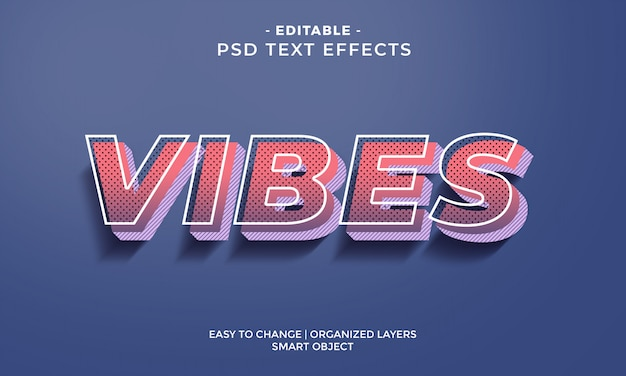 Modern colorful cool vibes text effect