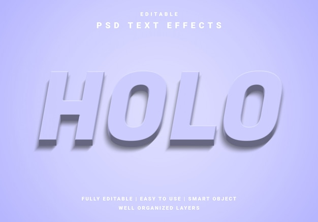 Modern colorful holo text effect