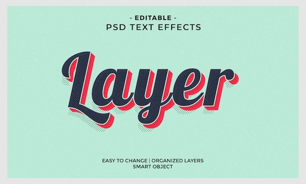 Modern colorful layer text effect