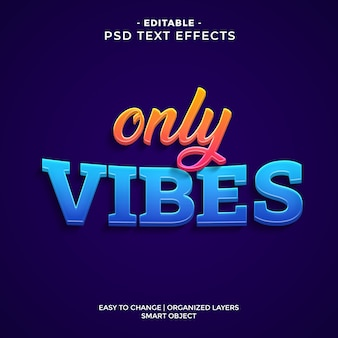 Modern colorful only vibes text effect