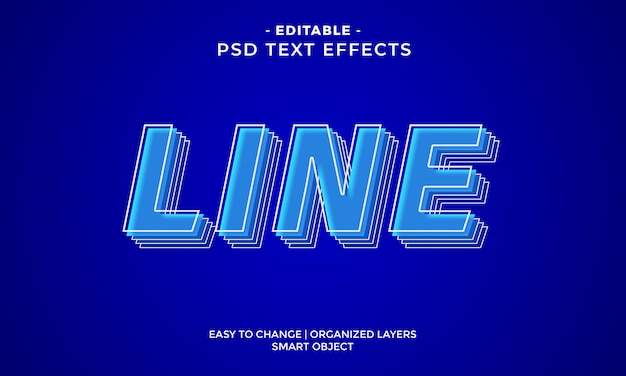 Modern colorful outline text effect