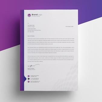 Modern company letterhead premium psd