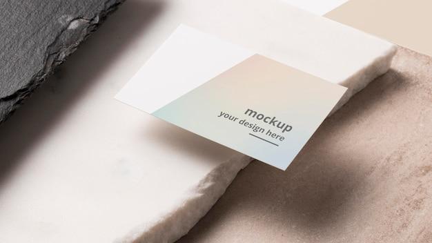 Modern composition of mock-up business card