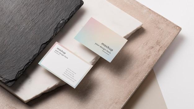Современная композиция макета визитки