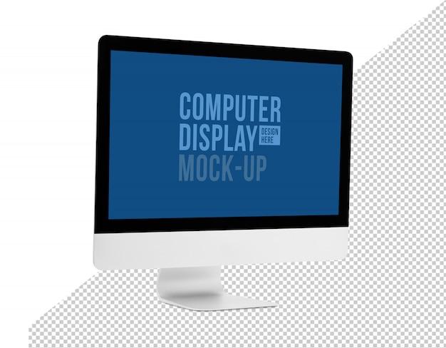 Modern computer desktop with screen mockup