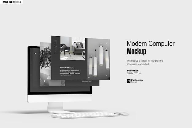 最新のコンピューター画面モックアップv2