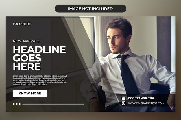 Modern corporate banner design psd