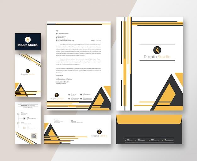 Modern corporate branding identity template