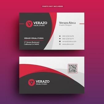 Modern corporate business card template