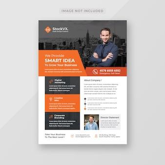 Modern corporate business flyer template template