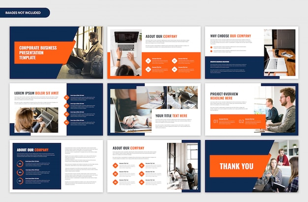 Modern corporate business and startup presentation template