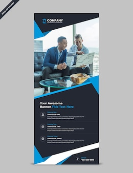 Modern corporate profession business rollup banner template