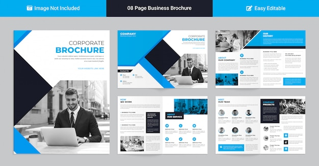 Modern corporate profile template for business presentation