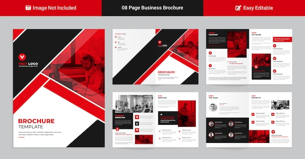 Modern corporate profile template for business presentation