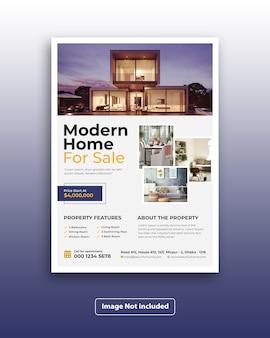 Modern corporate real estate marketing flyer template
