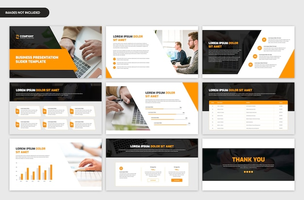 Modern corporate slider template for business and startup project